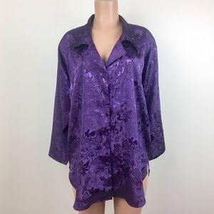 Victoria's Secret Intimates & Sleepwear - Vintage Victoria's Secret Sleep Shirt 80's Purple